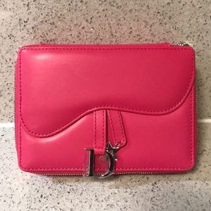 Christian Dior Saddle Bag Zip Clutch Makeup Bag